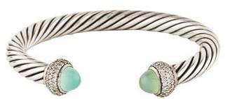 David Yurman Chalcedony & Diamond Classic Cable Bracelet
