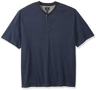 G.H. Bass & Co. Men's Size Big and Tall Madawaska Short Sleeve Henley