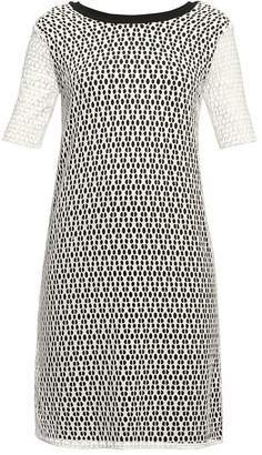 Rumour London - Donna Lace Overlay Dress Sheer Sleeves