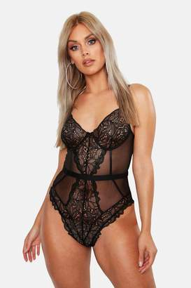 boohoo Plus Lace Cup Bodysuit
