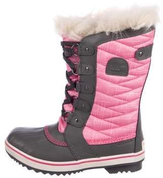 Sorel Girls' Metallic Snow Boots