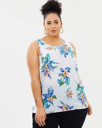Evans Tropical Print Vest