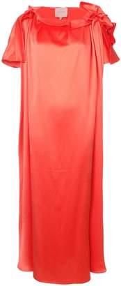 Roksanda gathered neck shift dress