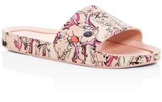 Mini Melissa Girls' Unicorn Pool Slide Sandals - Toddler, Little Kid, Big Kid