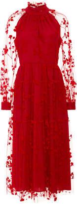 Co Floral Lace Midi Dress