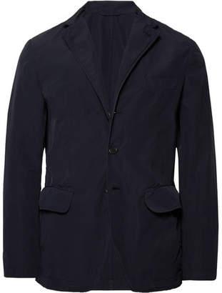 Aspesi Navy Slim-Fit Garment-Dyed Shell Blazer