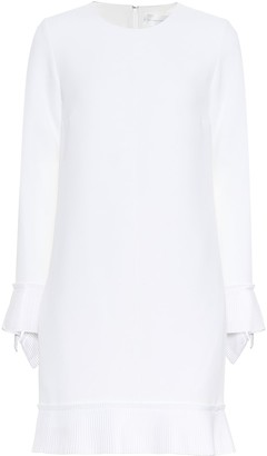 Victoria Victoria Beckham Long-sleeved crepe minidress