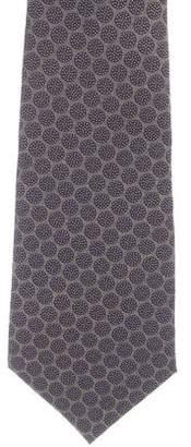 John Varvatos Geometric Print Silk Tie