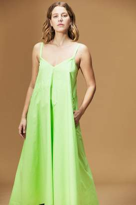 Veda Playa Cotton Maxi Dress Lime Green