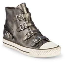 Ash Virgin Metallic Leather High-Top Sneakers