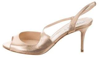 LK Bennett Palmita Metallic Sandals
