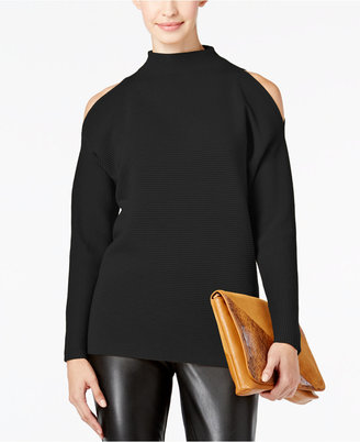 Alfani Prima Cold-Shoulder Mock-Neck Sweater, Only at Macy's $79.50 thestylecure.com
