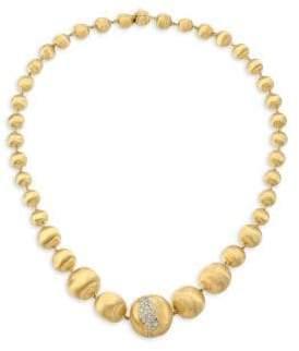 Marco Bicego 18K Gold& Diamond Beaded Necklace
