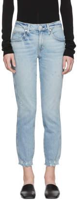 Amo Blue Stix Cropped Jeans