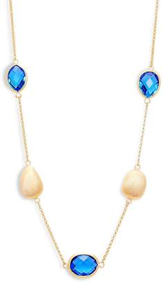 Rivka Friedman Women's Blue Crystal and 18K Gold Layered Necklace