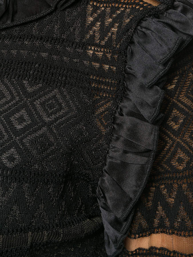 Class Roberto Cavalli sheer panelled dress