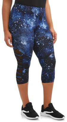 fceea95645eac Eye Candy Juniors' Plus Size Mesh Cutout Capri Leggings