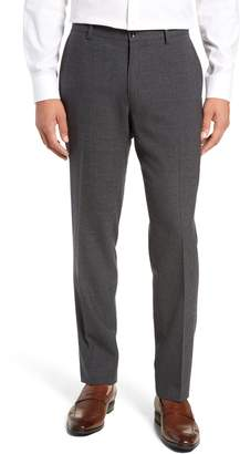 Nordstrom Signature Trim Fit Flat Front Solid Wool Trousers