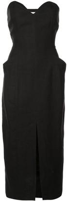 Mara Hoffman strapless midi dress