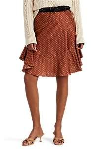 Masscob Women's Hamel Floral Silk Miniskirt - Orange