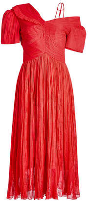 Preen by Thornton Bregazzi Cyra Silk Chiffon Dress