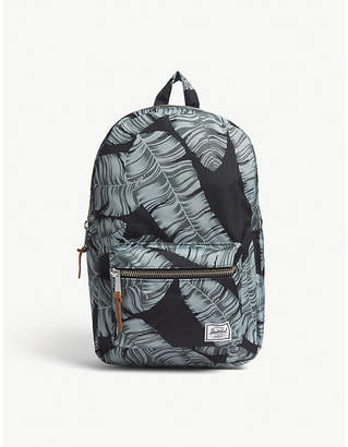 Herschel Black Palm Floral Settlement Mid Volume Backpack