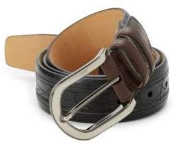 Mezlan Saratoga Crocodile Leather Belt