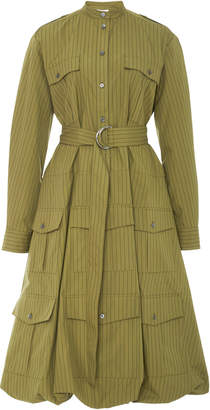 J.W.Anderson Patch Pocket Belted Cotton Poplin Shirt Dress