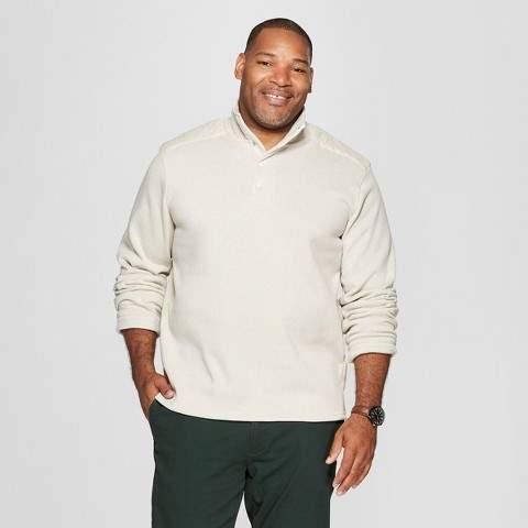 Goodfellow & Co Men's Big & Tall Sweater Fleece Quarter Snap