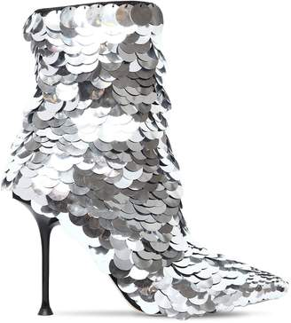 Sergio Rossi 105mm Sr Milano Sequined Ankle Boots