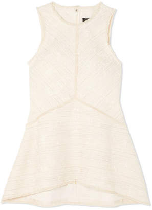 Proenza Schouler Cotton-blend Bouclé-tweed Top - Off-white
