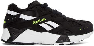 Reebok Classics Black and White Aztrek Sneakers