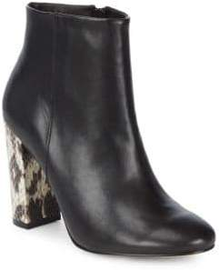 Contrast Heel Ankle Boots