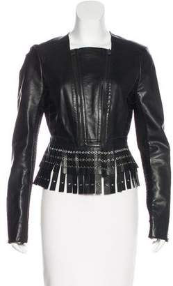 Herve Leger Jianna Leather Jacket w/ Tags
