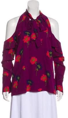 Tanya Taylor Silk Floral Sleeveless Top