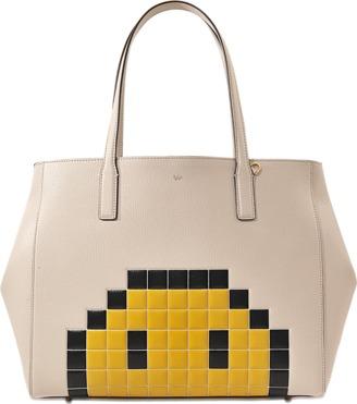 Anya Hindmarch Ebury Pixel Smiley shopper bag $1,355 thestylecure.com