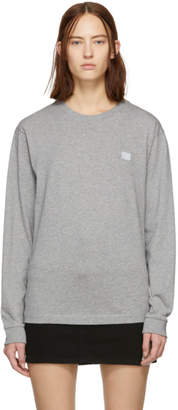Acne Studios Grey Elwood Face Long Sleeve T-Shirt