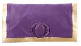 Bottega Veneta Leather Flap Clutch