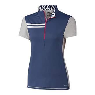 Cutter & Buck LAK00059 Ladies' C/S Action Contour Mock Polo Shirt