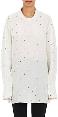 Calvin Klein Women's Kenhorst Tetra Polka Dot Silk Blouse $1,195 thestylecure.com