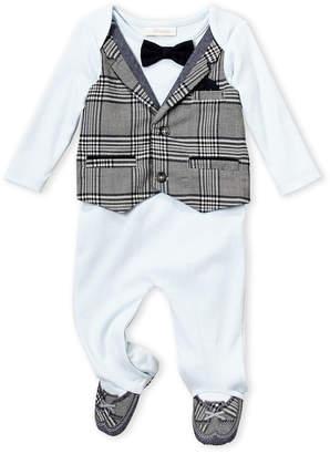 Baby Essentials Miniclasix (Newborn Boys) Plaid Vested Footie