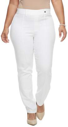 Utopia By Hue Plus Size Utopia by HUE Pintucked Twill Skimmer Leggings