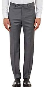 Incotex Men's B-Body Classic-Fit Wool Trousers - Gray