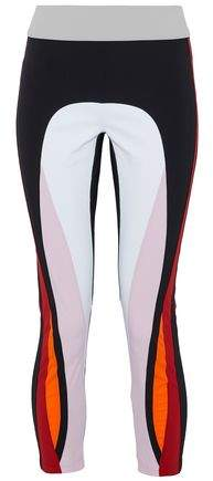 Cropped Color-Block Stretch Leggings