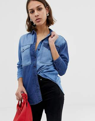 Pepe Jeans Jerry Contrast Denim Shirt