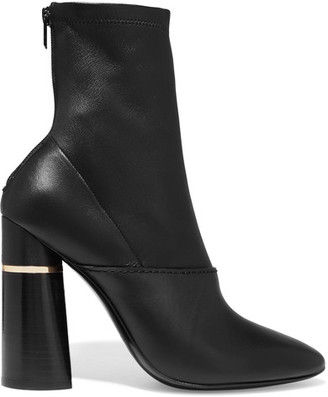 3.1 Phillip Lim - Kyoto Leather Ankle Boots - Black $760 thestylecure.com