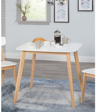 TMS Modern Dining Table, White/Natural