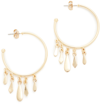 Jules Smith Clary Hoop Earrings $55 thestylecure.com