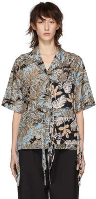 3.1 Phillip Lim Multicolor Patchwork Camp Shirt