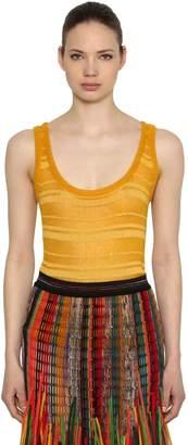 Missoni Macramé Wool Blend Knit Tank Top